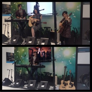 Sennheiser showcase at NAMM 2015 with Jaq Mackenzie and Liane Curtis