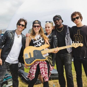 With Kaya Stewart and band - High School Nation Tour 2015