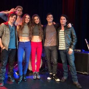 With Nina & Randa and band, filming at YouTube Space LA