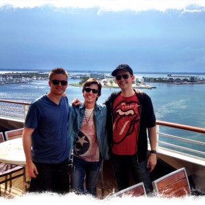 With the Sabrina band on the Disney cruise!