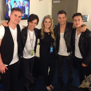 Backstage at the 2015 RDMAs
