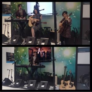 Sennheiser showcase at NAMM 2015 with Jaq Mackenzie and Liane Curtis