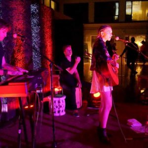 Performing with the talented Valentina at the Mondrian in West Hollywood.