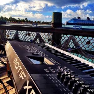 Matt's Motif set up on Disney's Castaway Cay in the Bahamas