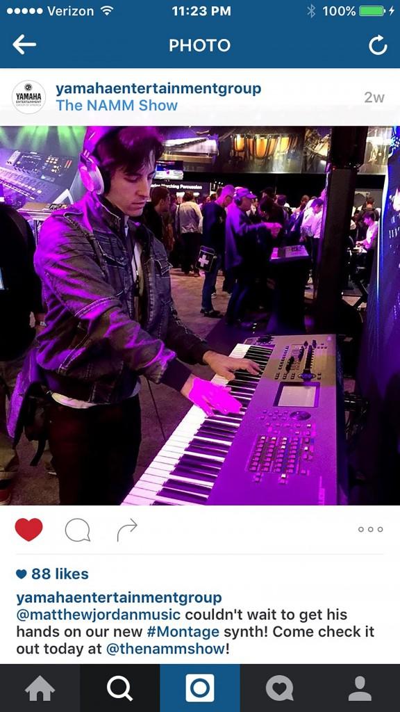 Yamaha Instagram NAMM
